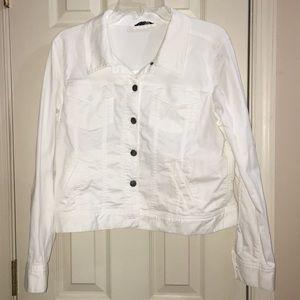 White Denim Eileen Fisher Jacket